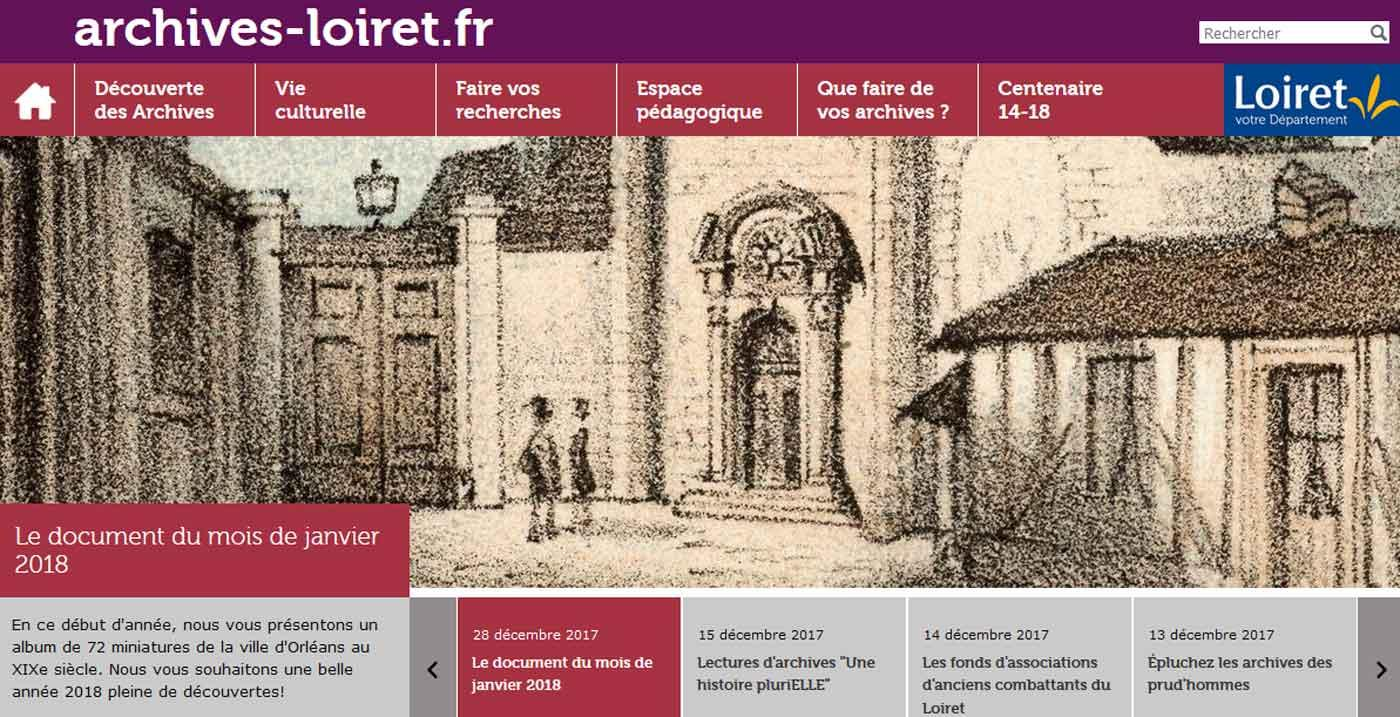 Home site web Archives du Loiret